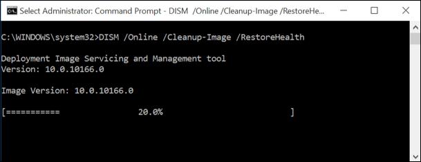 run DISM scan windows 10