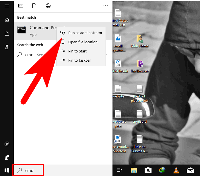 command prompt in windows 10