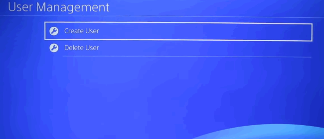 delete playstation user account in game console
