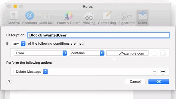 block user on mac
