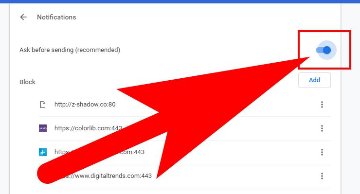 Turn Off Google Chrome Notifications