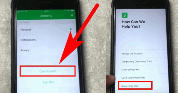 delete cash app account on iphone