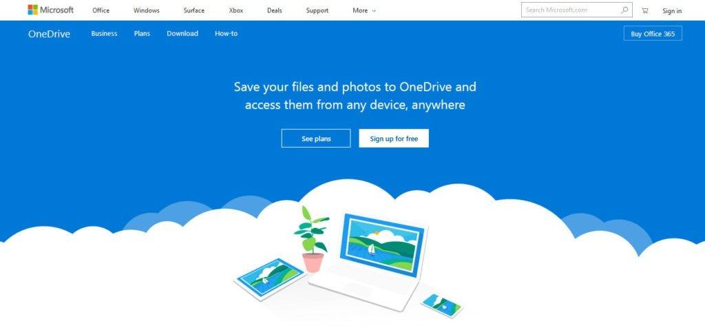 onedrive best cloud storage of 2019