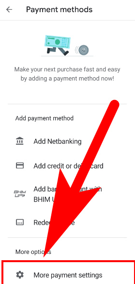 delete credit card details from google play