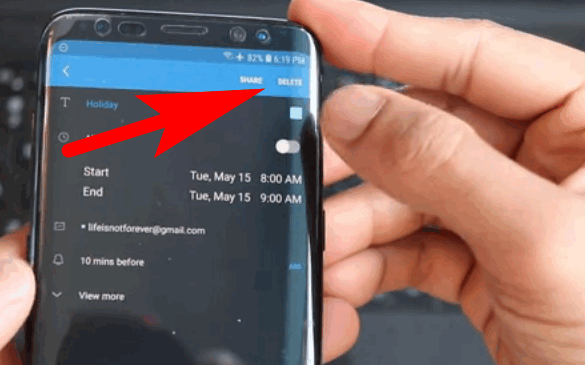 Delete Events from Google Calendar
