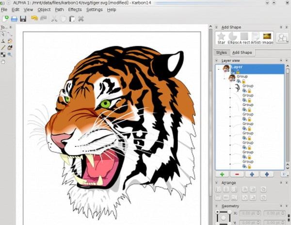 karbon drawing software