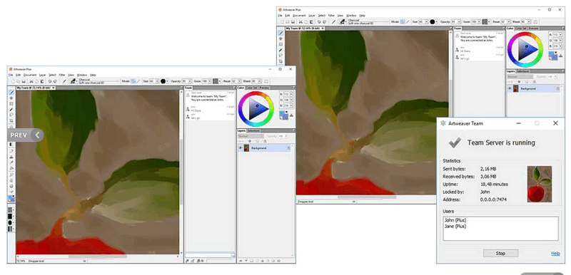 how to use Artweaver Free