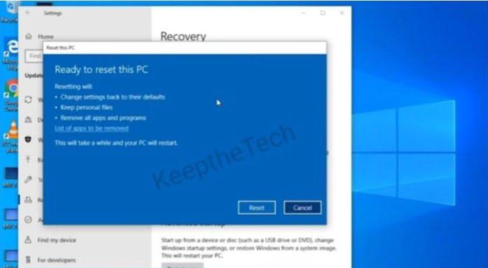 Windows 10 Reset