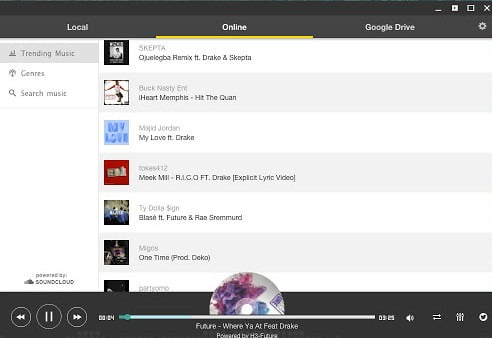 online music player for chrome