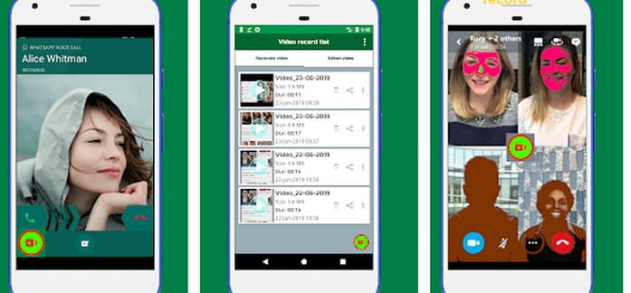 whatsapp video call recorder