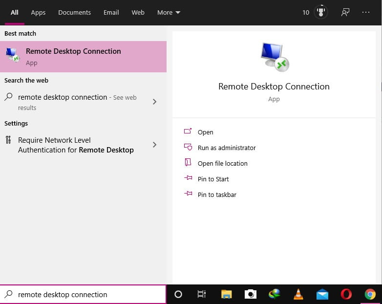 remote connection to windows 10