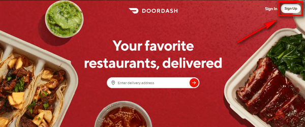 DoorDash Signup