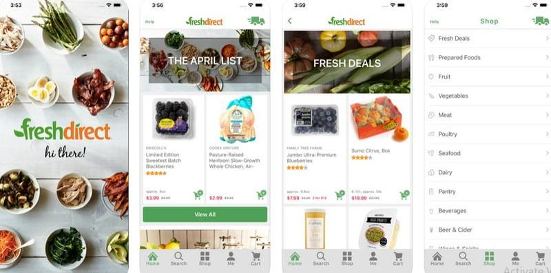 FreshDirect iphone app