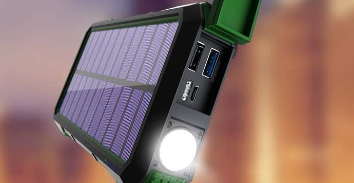 Leo Way Solar Charger Power Bank