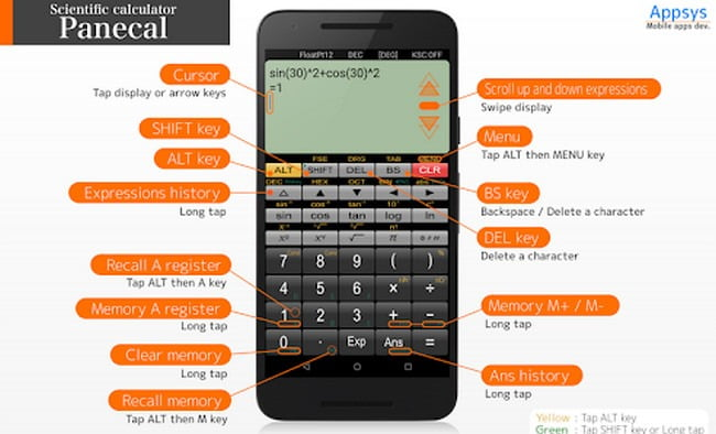 Panecal Scientific Calculator App