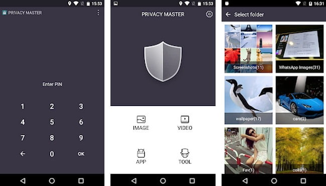 Privacy Master Application