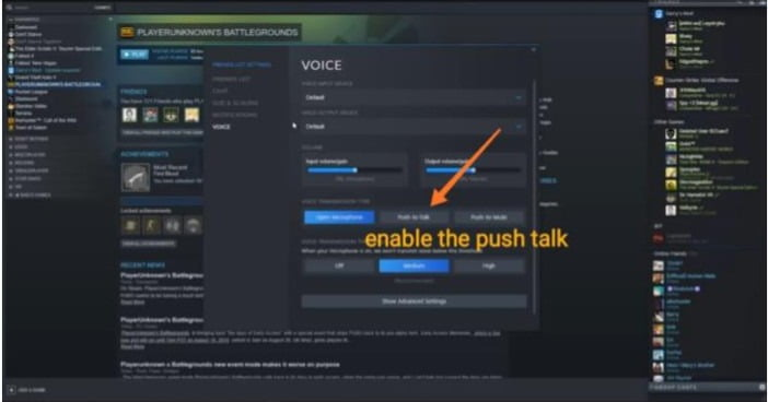 active microphone in stream