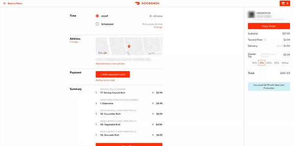 doordash add payment method