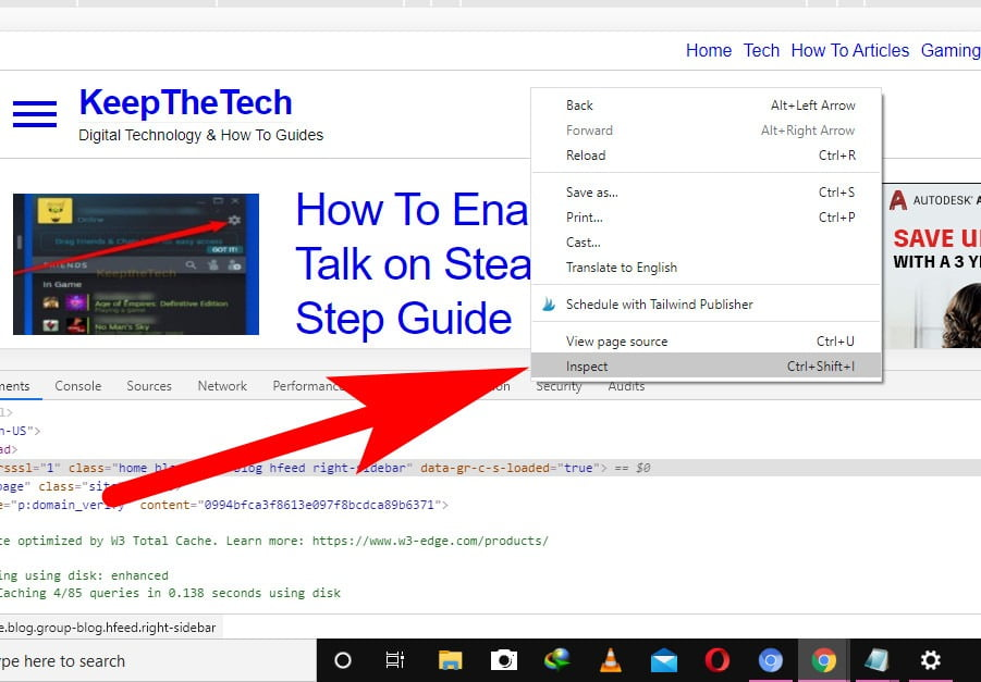 How To Inspeact In Edge