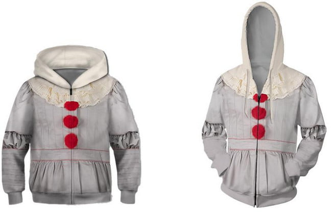Pennywise Cosplay Costume Clown Halloween Costumes