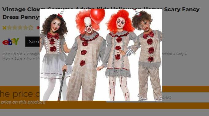 Vintage Clown Costume Adults Kids