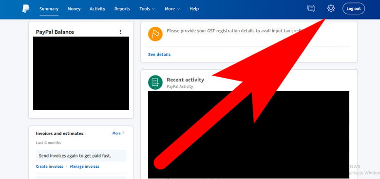 how to access paypal settings