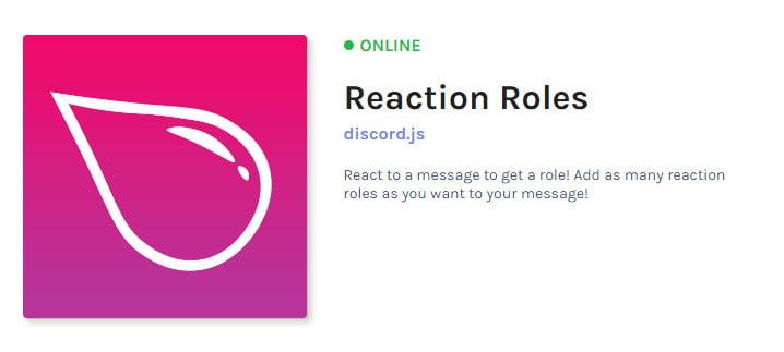 Reaction Roles Bot