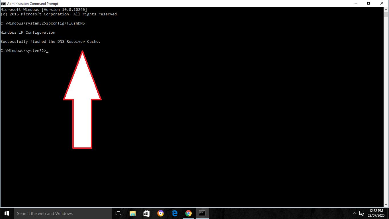 Delete DNS Cache