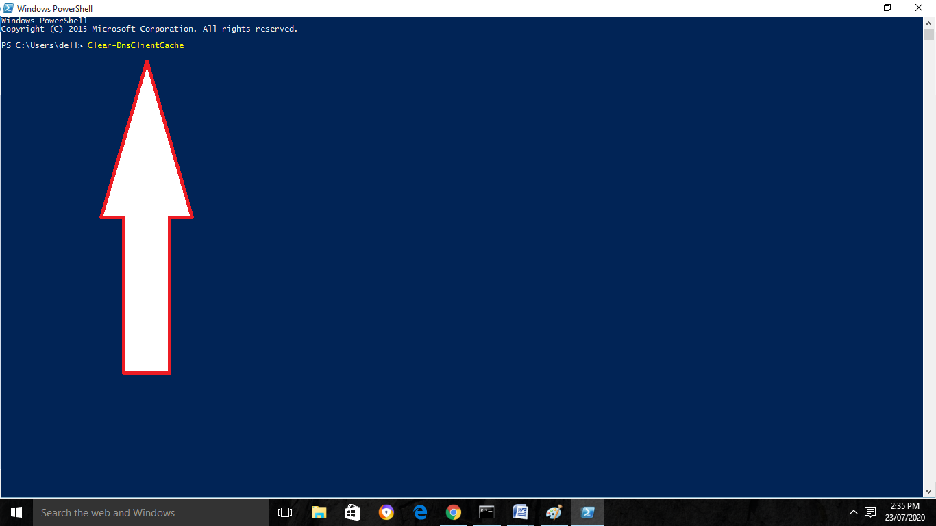 Remove DNS in Windows
