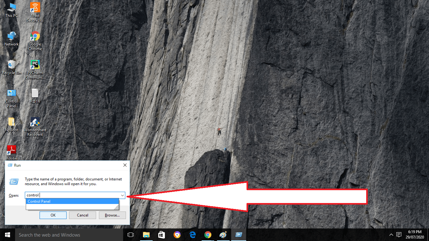 where is control panel in windows 10