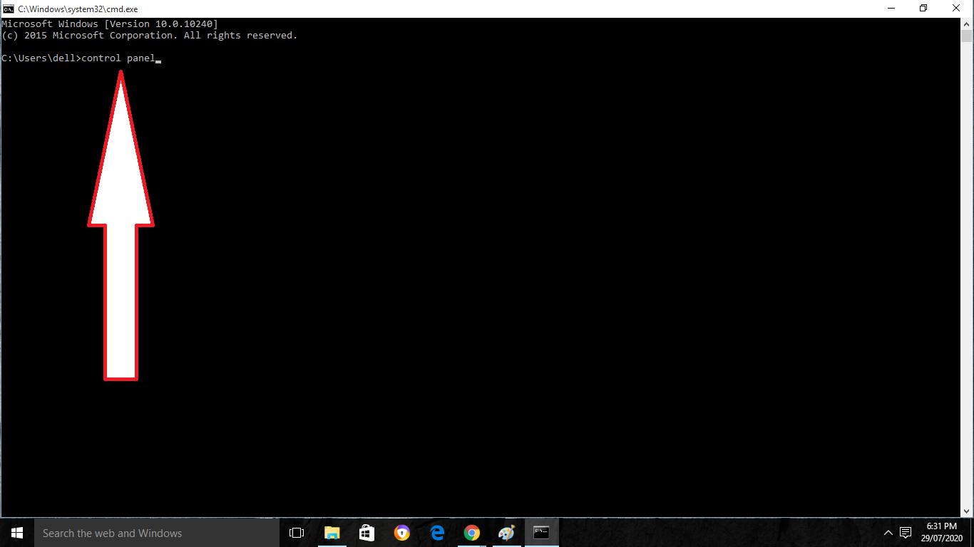 Control Panel Windows 10