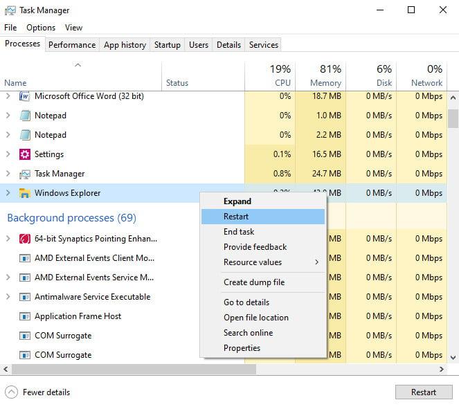 Windows Task Manager