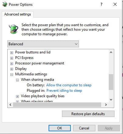 enabe sleep mode Windows 10