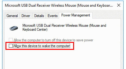 Wake PC Screen Using Mouse