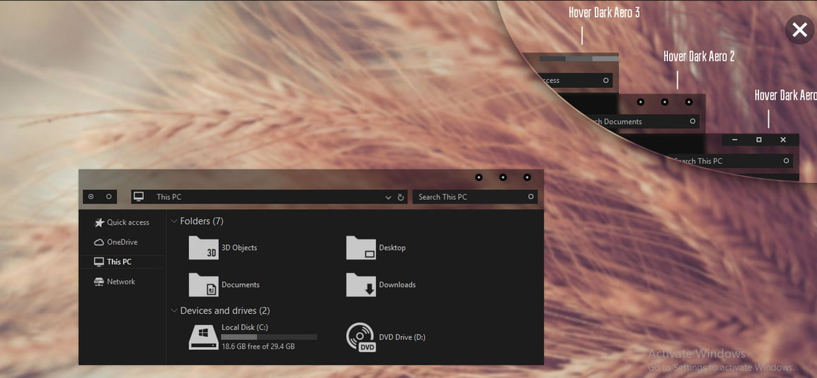 download dark theme for Windows