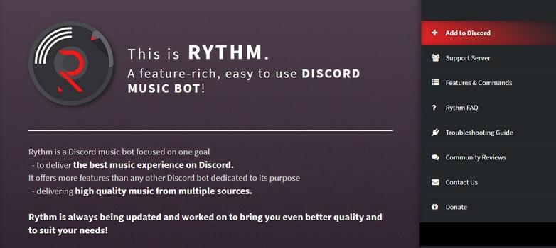 rythm bot commands