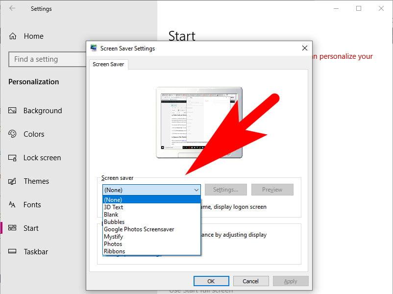 Windows 10 Screen Saver