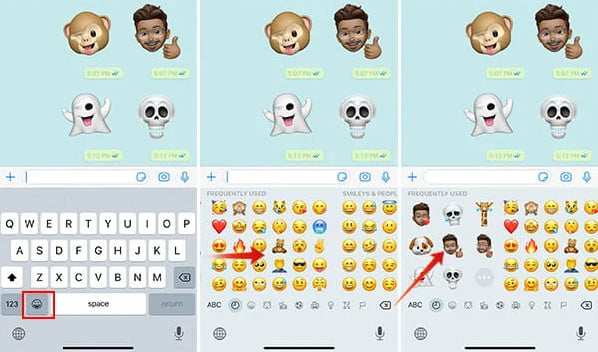 how to send memoji to android phone