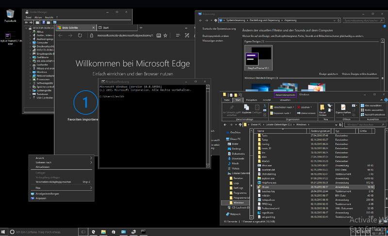 dark themes for Windows 10