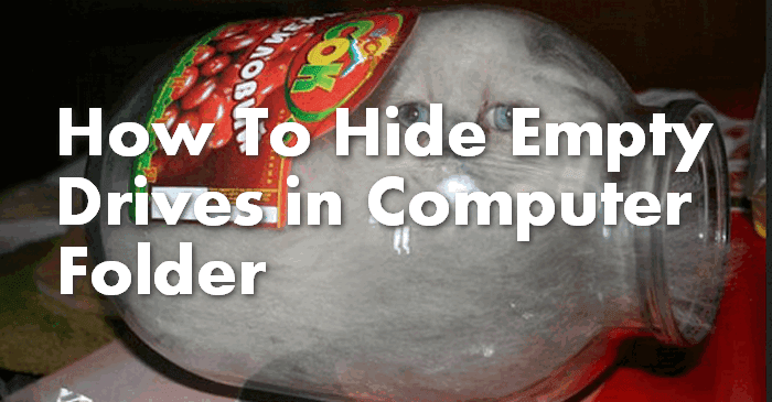 how to hide empty drives in windows