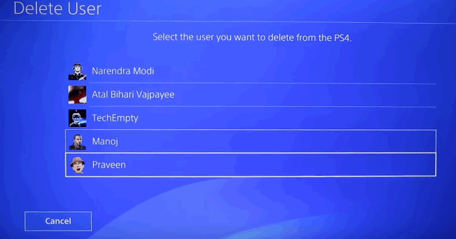 PS4 settings