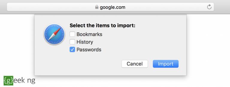 exporting password on mac