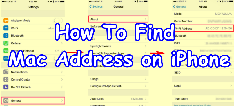 How To Find Mac Address on iPhone 2