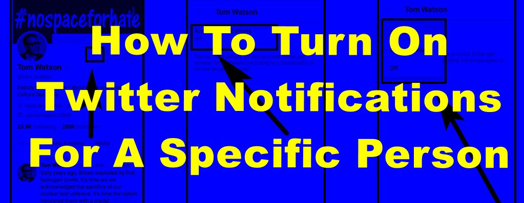 How To Turn on Twitter Notifications For A Specific Person