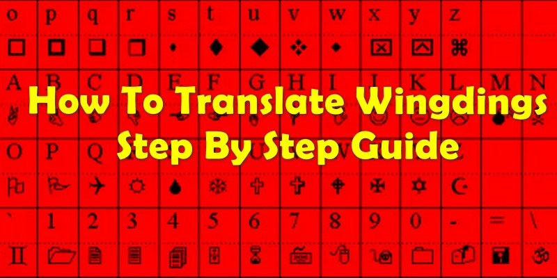 How To Translate Wingdings Font