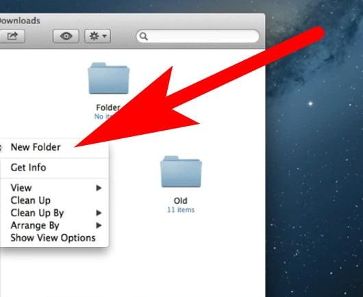 how to make a folder on mac