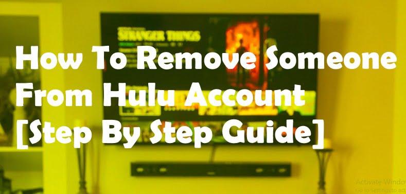 remove friend from hulu account