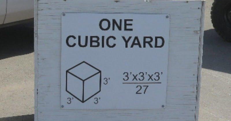 Cubic Feet in a Cubic Yard