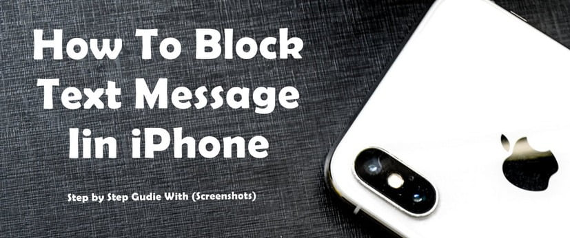 Block Messages in iPhone
