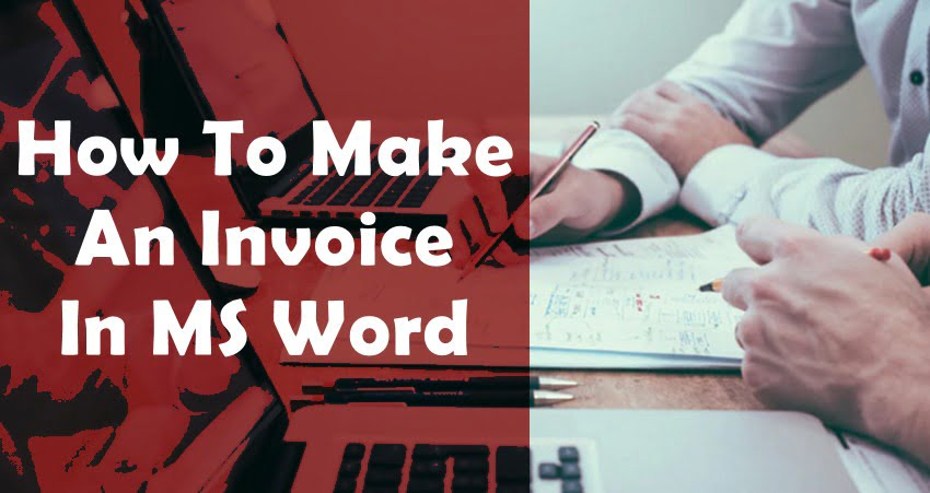 how create invoice on ms word